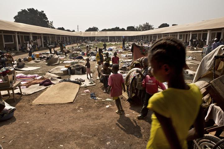 中央アフリカ共和国:首都バンギ...